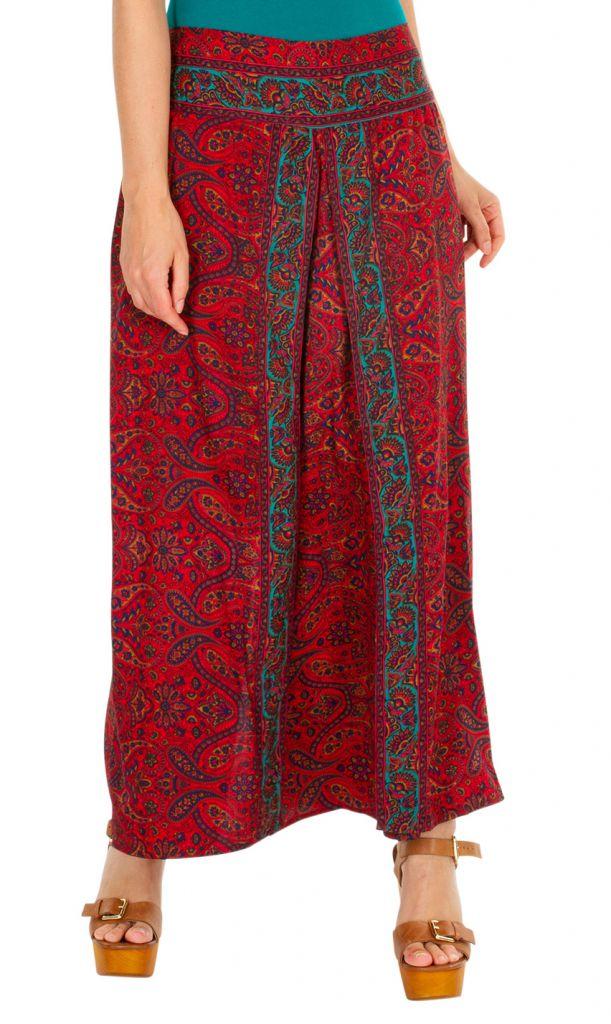 Pantalon large imprimé ethnique-chic pour femme Lyly 308871
