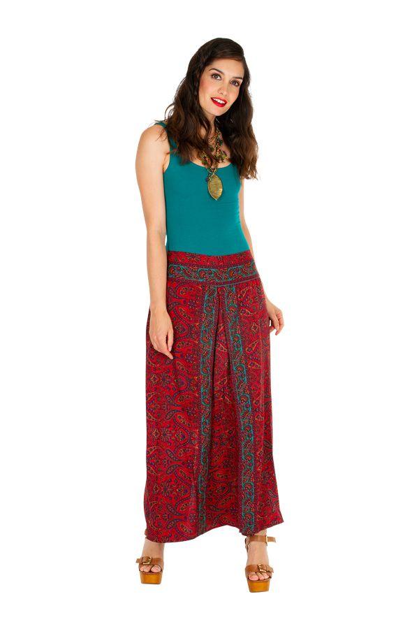 Pantalon large imprimé ethnique-chic pour femme Lyly 308872