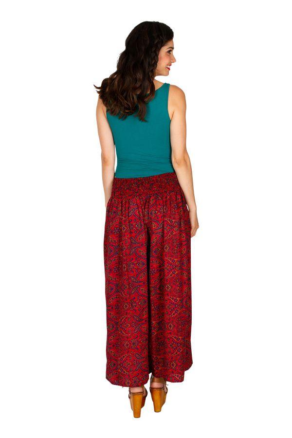 Pantalon large imprimé ethnique-chic pour femme Lyly 308873