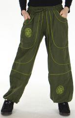 Pantalon large Mixte Ethnique et Original Guilherme Kaki 278712