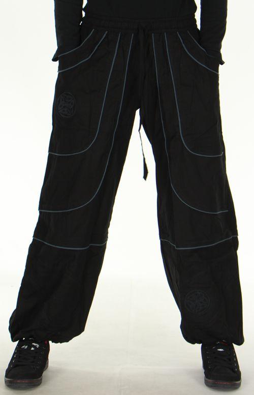 pantalon large noir mixte ethnique et original guilherme. Black Bedroom Furniture Sets. Home Design Ideas