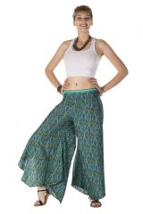 Pantalon large original avec des motifs ethnique bleuté Utah 288533