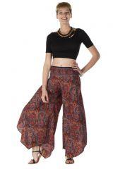 Pantalon large original avec des motifs ethnique multicolore Malory 288546