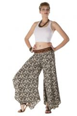 Pantalon large original avec des motifs ethnique noir et blanc Colorado 288535
