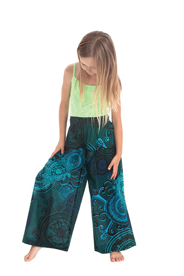 Pantalon Large pour enfant Coloré et Fantaisie Buck Bleu 279936