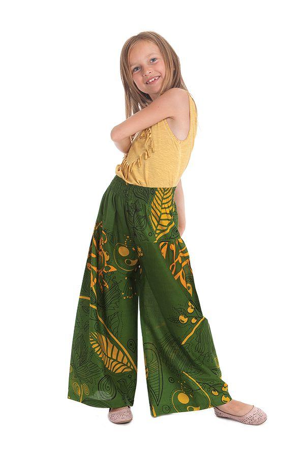 Pantalon Large pour enfant Vert Coloré et Fantaisie Buck 279932