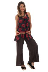 Pantalon large pour femme à volants Ethnique et Original Donald Choco 295369