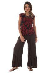 Pantalon large pour femme à volants Ethnique et Original Donald Choco