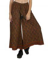 Pantalon large pour femme imprimé ethnique bohème Johnny