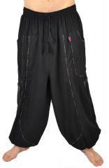 Pantalon large sarouel bouffant pour homme Aladin noir 304600