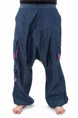 Pantalon large sarouel en jean pour femme Milanah 304673