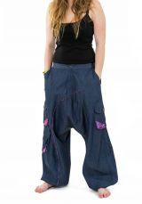 Pantalon large sarouel en jean pour femme Milanah 304674