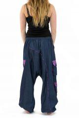 Pantalon large sarouel en jean pour femme Milanah 304675