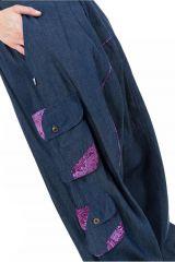 Pantalon large sarouel en jean pour femme Milanah 304676