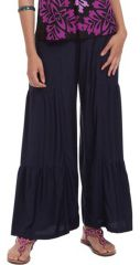 Pantalon large style volants Ethnique et Original Donald Bleu Marine 282356
