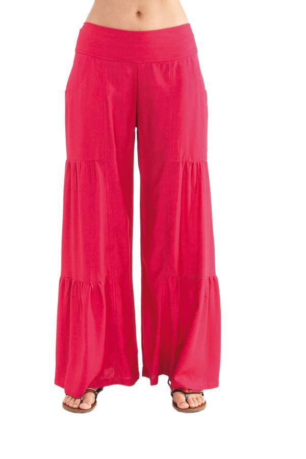 Pantalon large style volants Ethnique et Original Donald Rose Foncé 282344