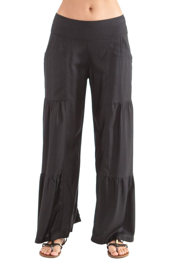 Pantalon large style volants Noir Ethnique et Original Donald 282343