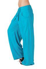 Pantalon large Turquoise Agréable et Original Glenn pour femme 282281