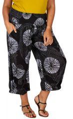 Pantalon léger à ceinture élastiquée femme grande taille Louis 308077