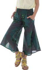 Pantalon léger avec ouverture aux jambes et imprimé hindous Samy 294155