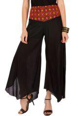 Pantalon léger coupe asymétrique et ceinture brodée Arastou 293079