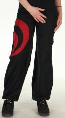 Pantalon léger pour Femme Bouffant et Ethnique Omar Noir 278456