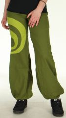 Pantalon léger pour Femme Ethnique et Bouffant Omar Kaki 278450