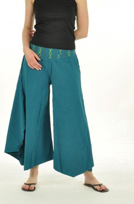 Pantalon léonie bleu 240349