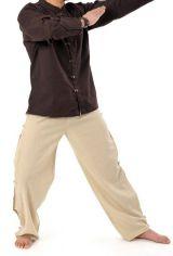 Pantalon mixte en coton du Népal original couleur chanvre Azuka 303978
