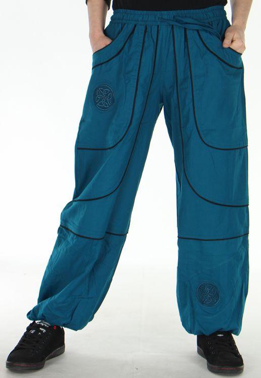 Pantalon Mixte Ethnique et Original large Guilherme Pétrole 278718
