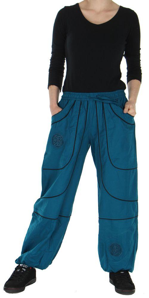 Pantalon Mixte Ethnique et Original large Guilherme Pétrole 278719
