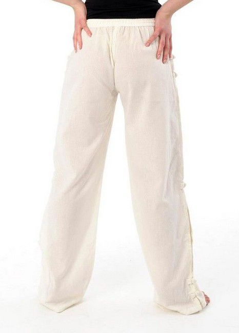 Pantalon mixte pas cher style japonais de couleur crème Azuka 303944