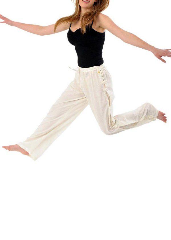 Pantalon mixte pas cher style japonais de couleur crème Azuka 303945