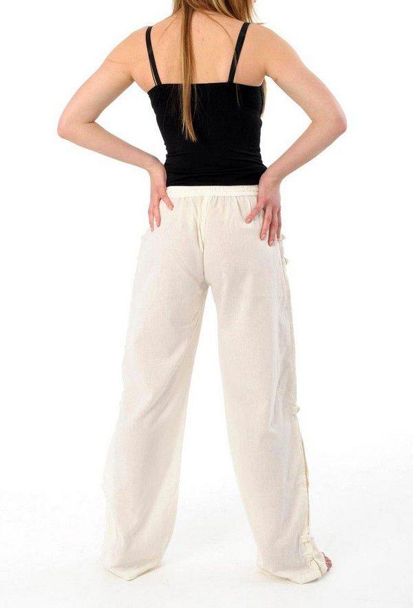 Pantalon mixte pas cher style japonais de couleur crème Azuka 303946