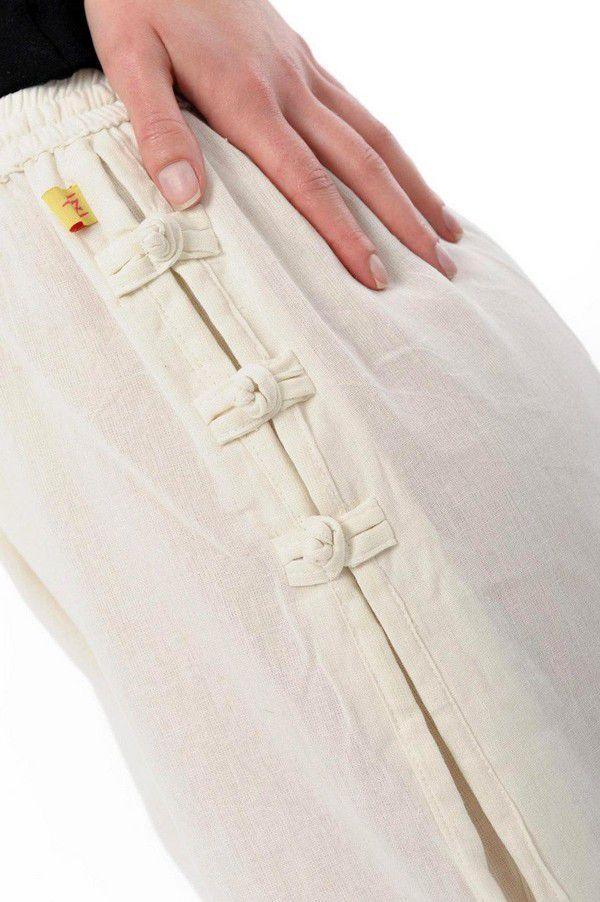 Pantalon mixte pas cher style japonais de couleur crème Azuka 303950