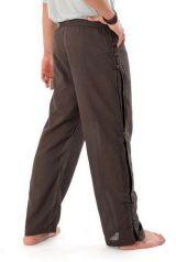 Pantalon mixte tendance mode japonaise de couleur chocolat Azuka 303970