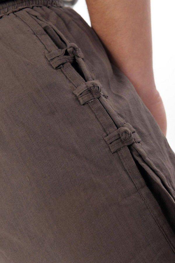 Pantalon mixte tendance mode japonaise de couleur chocolat Azuka