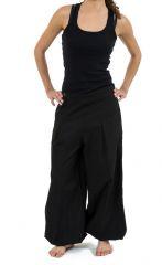 Pantalon noir droit pour femme bouffant et pas cher Nikki 313520