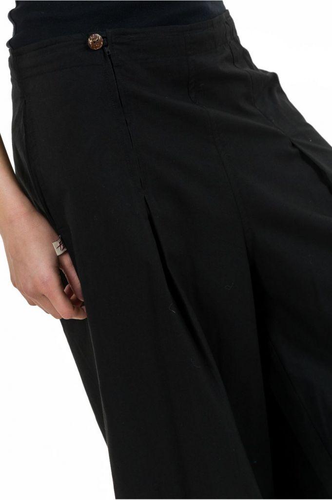 Pantalon noir droit pour femme bouffant et pas cher Nikki 313521
