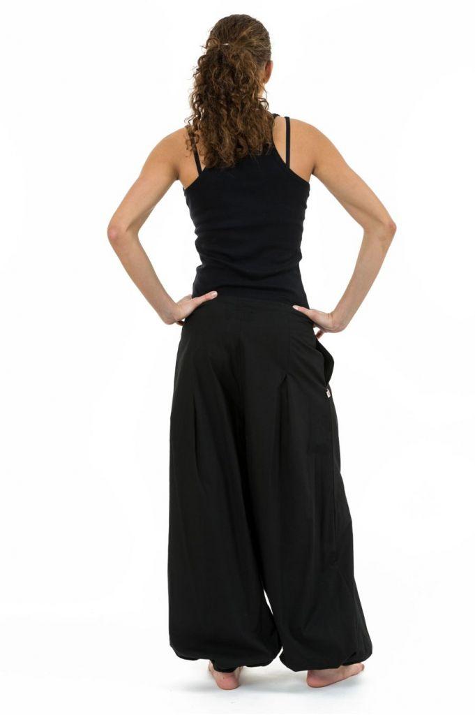 Pantalon noir droit pour femme bouffant et pas cher Nikki 313522
