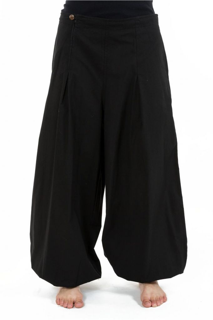 Pantalon noir droit pour femme bouffant et pas cher Nikki 313523