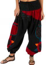 Pantalon noir et rouge original et pas cher Bassila 313587