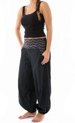 Pantalon noir large effet bouffant pour femme Minithia 305576