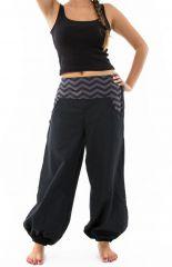 Pantalon noir large effet bouffant pour femme Minithia 305577