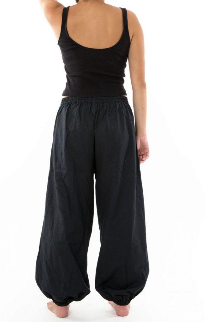 Pantalon noir large effet bouffant pour femme Minithia 305578