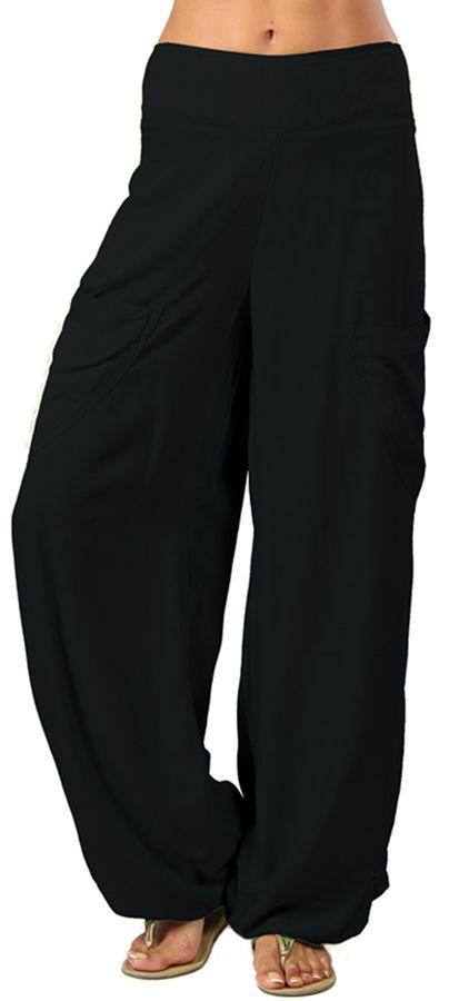 Pantalon noir pour femme fluide et agréable Cédric 282313