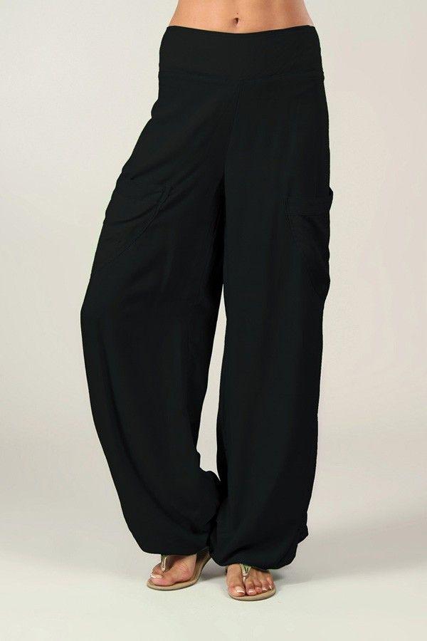 Pantalon noir pour femme fluide et agréable Cédric 318554