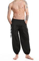 Pantalon noir pour homme confortable au look aladin Cedic 305584