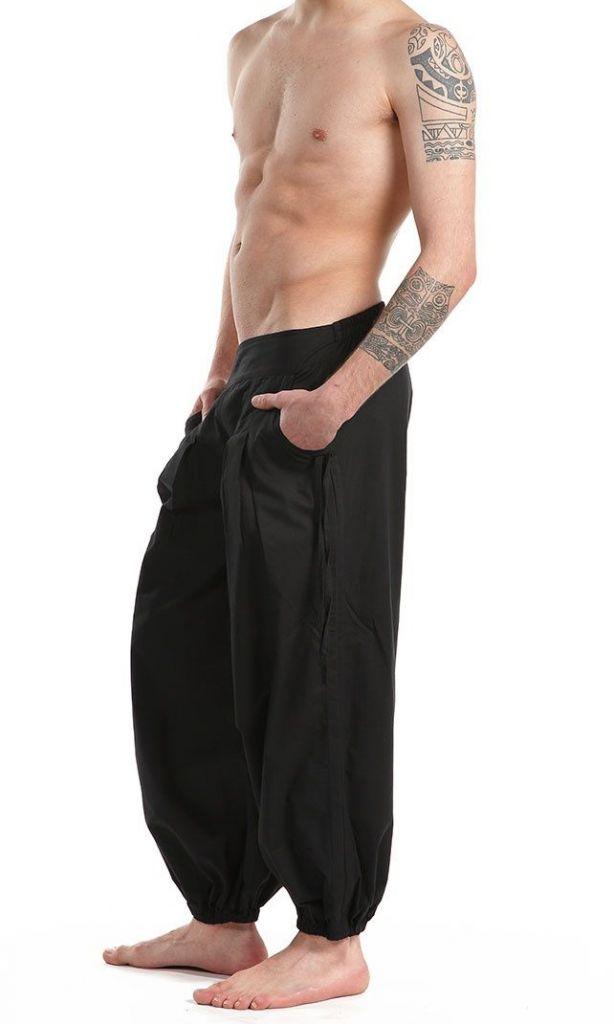 Pantalon noir pour homme confortable au look aladin Cedic 305585