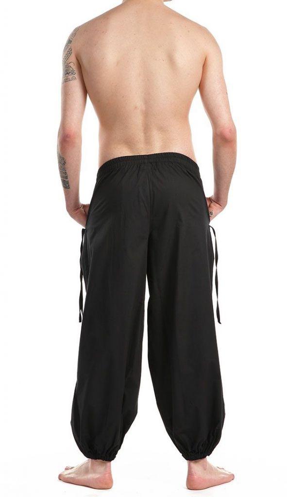 Pantalon noir pour homme confortable au look aladin Cedic 305586